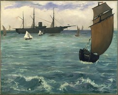 The Kearsarge at Boulogne, 1864, by Edouard Manet.