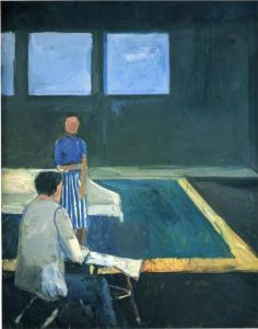 Man & Woman in a Large Room, 1957, R. Diebenkorn.