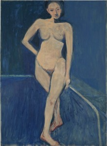 Nude on a Blue Ground, 1966, R. Diebenkorn.