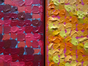 3-panel painting, detail.