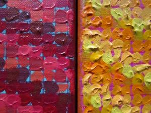 3-panel painting, detail.
