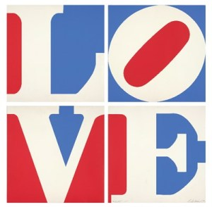 Robert Indiana, LOVE (1972), © 2015 Morgan Art Foundation / Artists Rights Society (ARS)