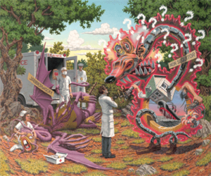 """Death by Exasperation"" by Robert Williams."