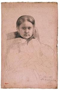 Mlle. Dembrowska, ca. 1858-59, Edgar Degas.