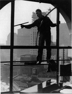 Washing Windows, by Otto Hagel.