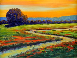 Bill Gittens, Dusk Along Poppy Creek.