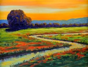 Bill Gittens, Dusk Along Poppy Creek.