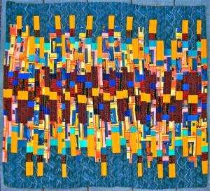 Improv-Bargello, by Sue Kelly